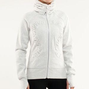 Lululemon 6 Cuddle Up Full Zip Jacket White